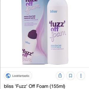 Bliss Makeup - Bundle of 2 BLISS Fuzz off foam Spray-on Rinse off